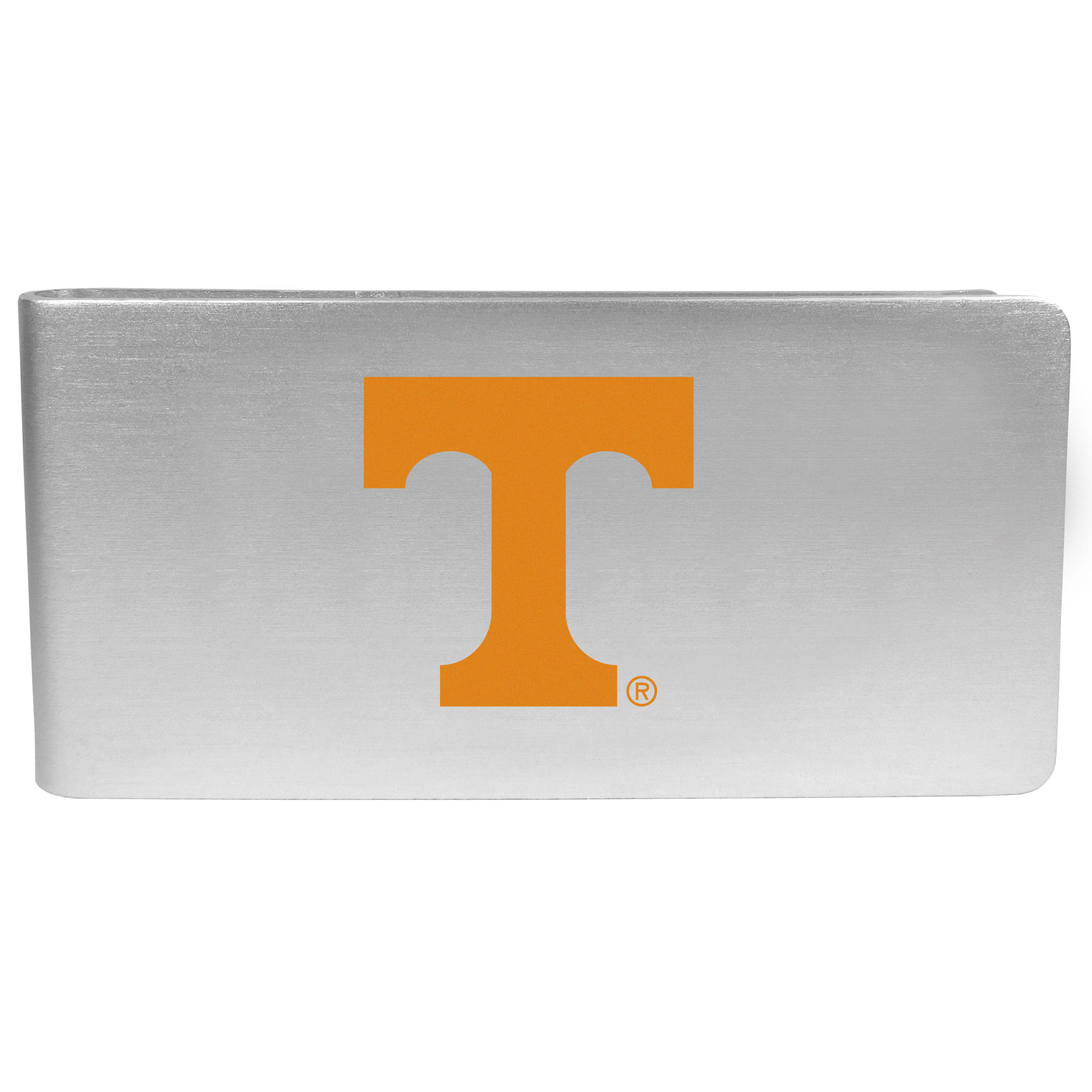Tennessee Volunteers Logo Money Clip - Our brushed metal money clip has classic style and functionality. The attractive clip features the Tennessee Volunteers logo expertly printed on front.
