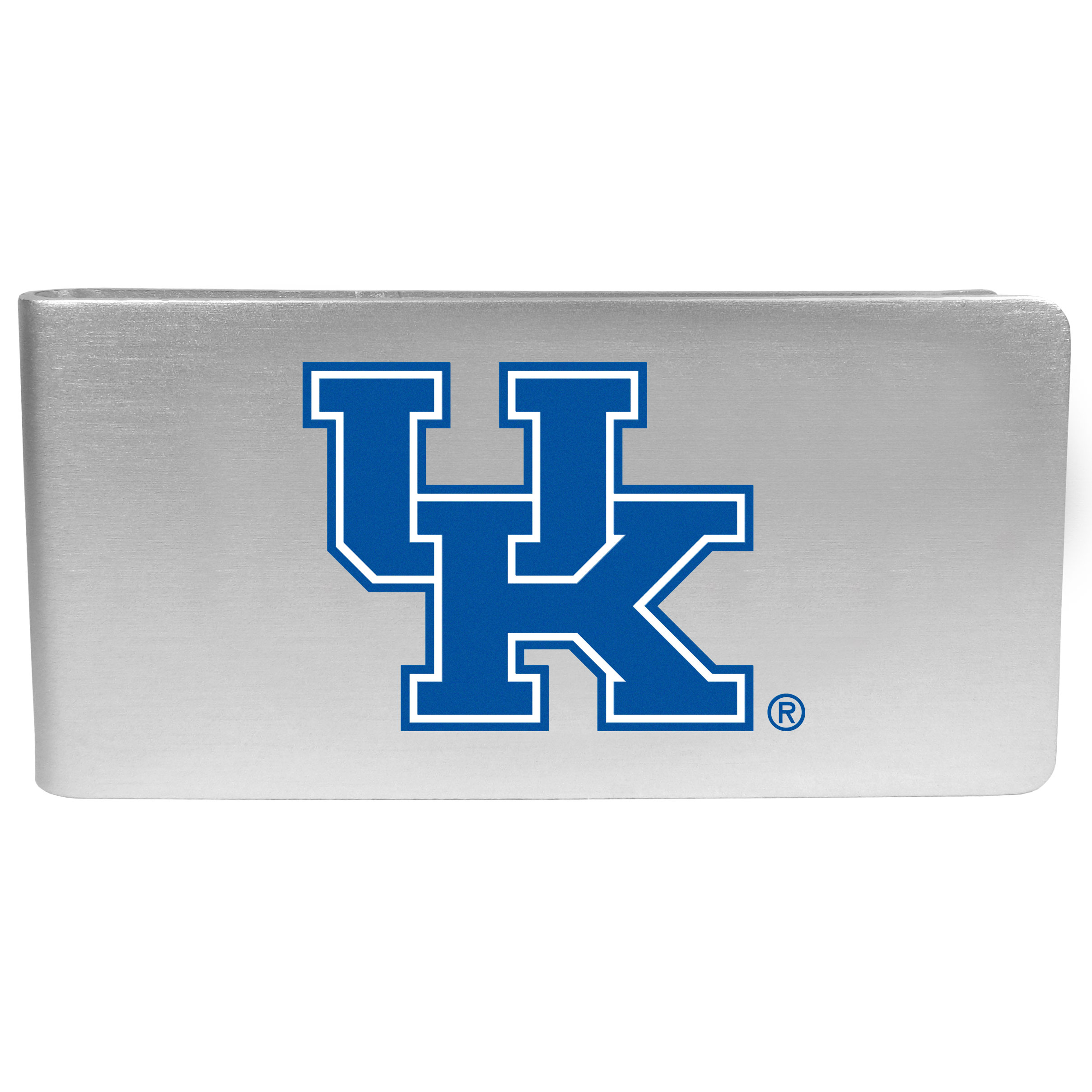 Kentucky Wildcats Logo Money Clip - Our brushed metal money clip has classic style and functionality. The attractive clip features the Kentucky Wildcats logo expertly printed on front.