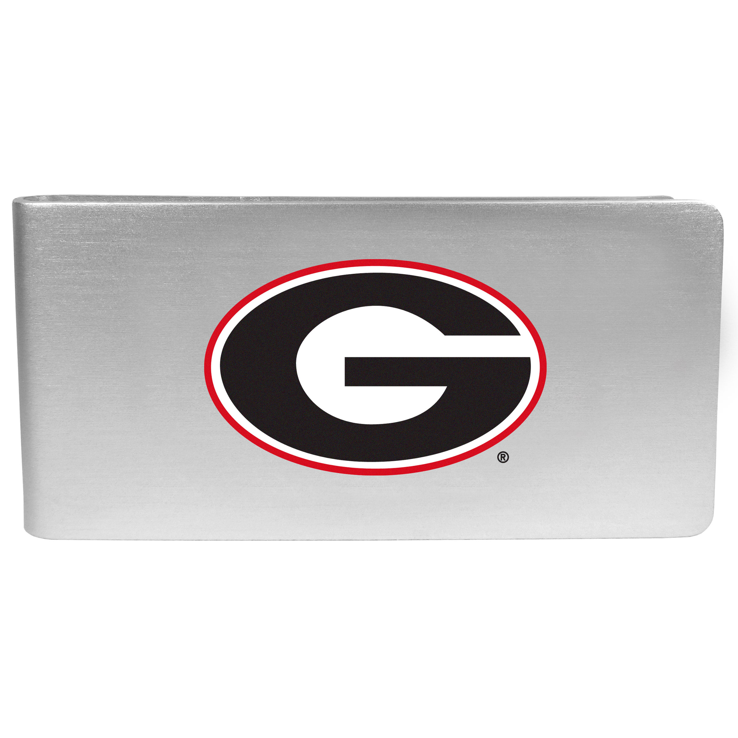 Georgia Bulldogs Logo Money Clip - Our brushed metal money clip has classic style and functionality. The attractive clip features the Georgia Bulldogs logo expertly printed on front.