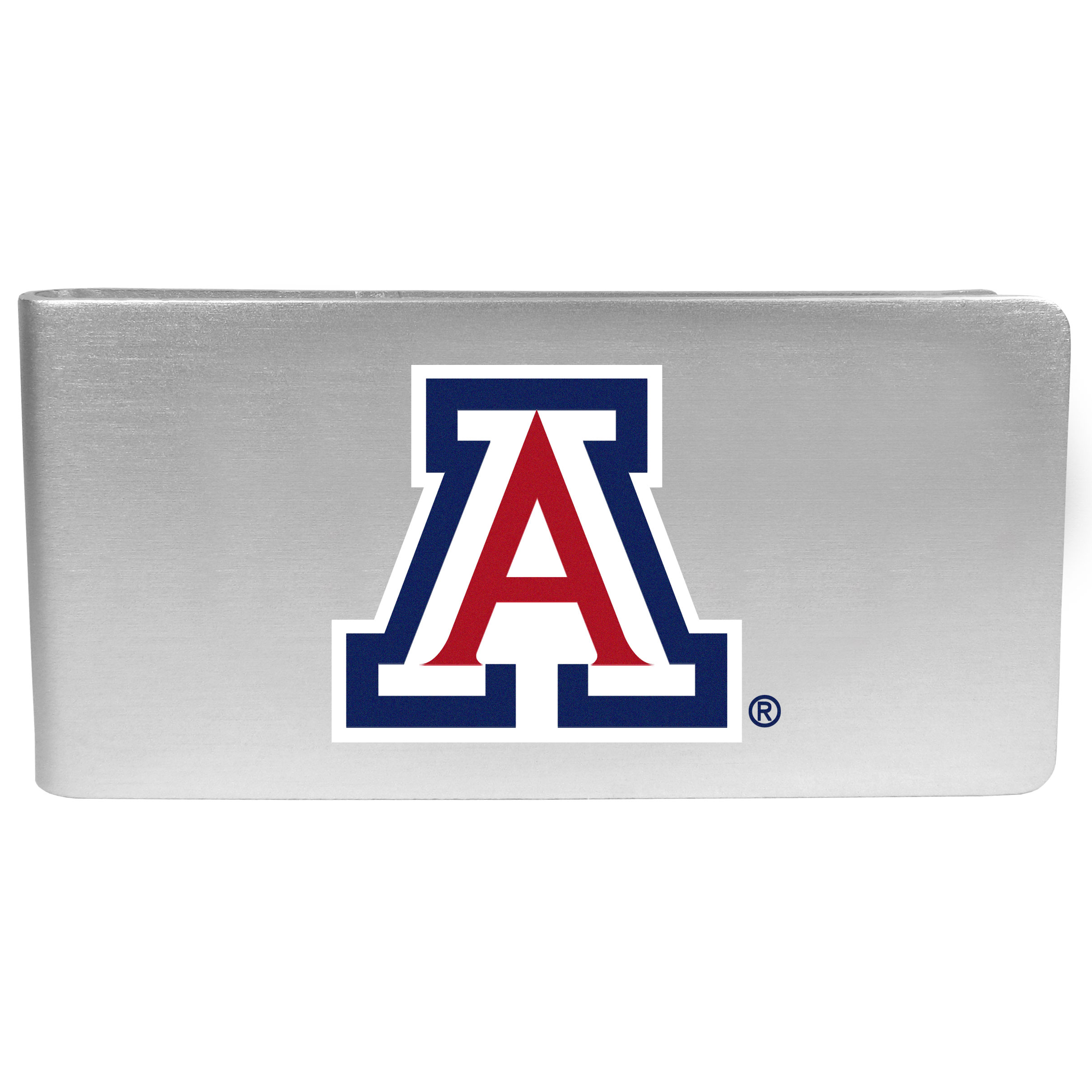 Arizona Wildcats Logo Money Clip - Our brushed metal money clip has classic style and functionality. The attractive clip features the Arizona Wildcats logo expertly printed on front.