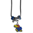 Kansas Jayhawks Euro Bead Necklace