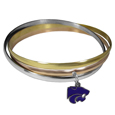 Kansas St. Wildcats Tri-color Bangle Bracelet