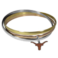 Texas Longhorns Tri-color Bangle Bracelet