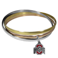 Ohio St. Buckeyes Tri-color Bangle Bracelet