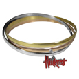 Nebraska Cornhuskers Tri-color Bangle Bracelet