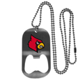 Louisville Cardinals Bottle Opener Tag Necklace