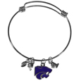 Kansas St. Wildcats Charm Bangle Bracelet