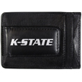 Kansas St. Wildcats Logo Leather Cash and Cardholder