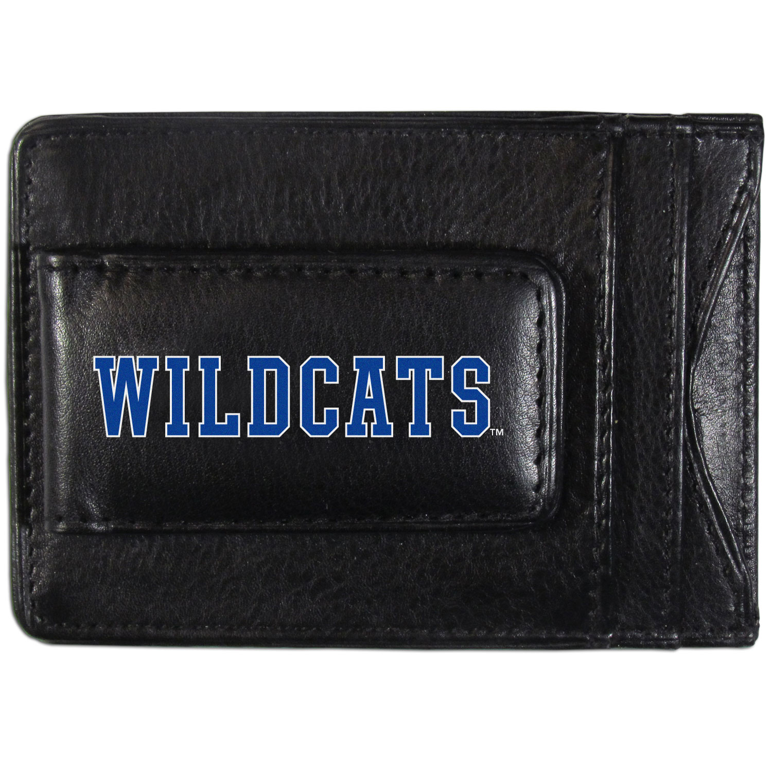 Kentucky Wildcats Logo Leather Cash and Cardholder - This super slim leather wallet lets you have all the benefits of a money clip while keeping the organization of a wallet. On one side of this front pocket wallet there is a strong, magnetic money clip to keep your cash easily accessible and the?Kentucky Wildcats team logo on the front. The versatile men's accessory is a perfect addition to your fan apparel.