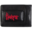 Nebraska Cornhuskers Logo Leather Cash and Cardholder