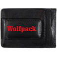N. Carolina St. Wolfpack Logo Leather Cash and Cardholder