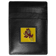 Arizona St. Sun Devils Leather Money Clip/Cardholder Packaged in Gift Box