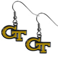 Georgia Tech Yellow Jackets Chrome Dangle Earrings - These officially licensed Georgia Tech Yellow Jackets chrome dangle earrings have fully cast Georgia Tech Yellow Jackets charms with exceptional detail and a hand enameled finish. The earrings have a high polish nickel free chrome finish and hypoallergenic fishhook posts. Thank you for shopping with CrazedOutSports.com
