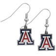 Arizona Wildcats Chrome Dangle Earrings - Our officially licensed chrome dangle earrings have fully cast Arizona Wildcats charms with exceptional detail and a hand enameled finish. The earrings have a high polish nickel free chrome finish and hypoallergenic fishhook posts. Thank you for shopping with CrazedOutSports.com