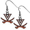 Virginia Cavaliers Chrome Dangle Earrings - Our officially licensed chrome dangle earrings have fully cast Virginia Cavaliers charms with exceptional detail and a hand enameled finish. The earrings have a high polish nickel free chrome finish and hypoallergenic fishhook posts. Thank you for shopping with CrazedOutSports.com