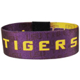 LSU Tigers Stretch Bracelet - Instantly become a team VIP with this colorful LSU Tigers Stretch Bracelet wrist band! This LSU Tigers Stretch Bracelet is not your average cheap stretch band the stretch fabric and dye sublimation allows the crisp graphics and logo designs to really pop. LSU Tigers Stretch Bracelet is a must have for any LSU Tigers fan! Thank you for shopping with CrazedOutSports.com