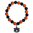 Auburn Tigers Fan Bead Bracelet - Flash your Auburn Tigers spirit with this bright stretch bracelet. This new bracelet features multicolored team beads on stretch cord with a nickel-free enameled chrome team charm. This bracelet adds the perfect pop of color to your game day accessories. Thank you for shopping with CrazedOutSports.com