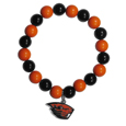 Oregon St. Beavers Fan Bead Bracelet - Flash your Oregon St. Beavers spirit with this bright stretch bracelet. This new bracelet features multicolored team beads on stretch cord with a nickel-free enameled chrome team charm. This bracelet adds the perfect pop of color to your game day accessories. Thank you for shopping with CrazedOutSports.com