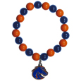 Boise St. Broncos Fan Bead Bracelet - Flash your Boise St. Broncos spirit with this bright stretch bracelet. This new bracelet features multicolored team beads on stretch cord with a nickel-free enameled chrome team charm. This bracelet adds the perfect pop of color to your game day accessories. Thank you for shopping with CrazedOutSports.com