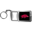 Arkansas Razorbacks Flashlight Key Chain with Bottle Opener
