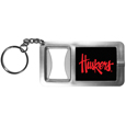 Nebraska Cornhuskers Flashlight Key Chain with Bottle Opener