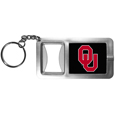 Oklahoma Sooners Flashlight Key Chain with Bottle Opener