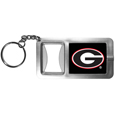 Georgia Bulldogs Flashlight Key Chain with Bottle Opener