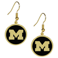 Michigan Wolverines Gold Tone Earrings