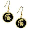 Michigan St. Spartans Gold Tone Earrings