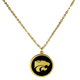 Kansas St. Wildcats Gold Tone Necklace