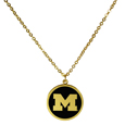 Michigan Wolverines Gold Tone Necklace