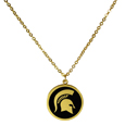 Michigan St. Spartans Gold Tone Necklace