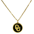 Oklahoma Sooners Gold Tone Necklace
