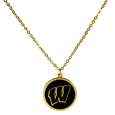 Wisconsin Badgers Gold Tone Necklace