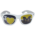 Michigan Wolverines I Heart Game Day Shades - These officially licensed Michigan Wolverines I Heart Game Day Shades are the perfect accessory for the devoted Michigan Wolverines fan! The Michigan Wolverines I Heart Game Day Shade sunglasses have durable polycarbonate frames with flex hinges for comfort and damage resistance. The Michigan Wolverines I Heart Game Day Shades lenses feature brightly colored team clings that are perforated for visibility.
