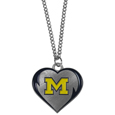 Michigan Wolverines Heart Necklace