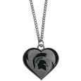 Michigan St. Spartans Heart Necklace