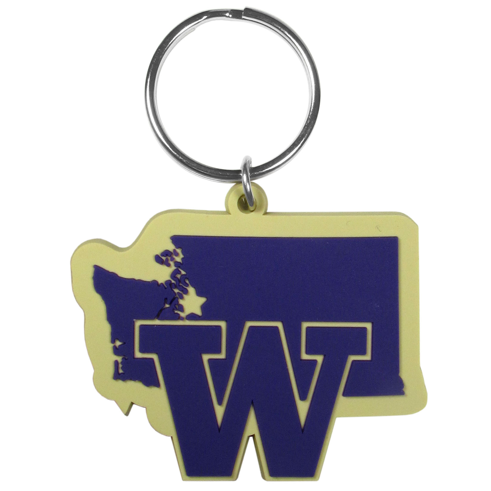 Washington Huskies Home State Flexi Key Chain - Our flexible Washington Huskies key chains are a fun way to carry your team with you. The pliable rubber material is extremely durable and the layered colors add a great 3D look to the key chain. This is really where quality and a great price meet to create a true fan favorite.