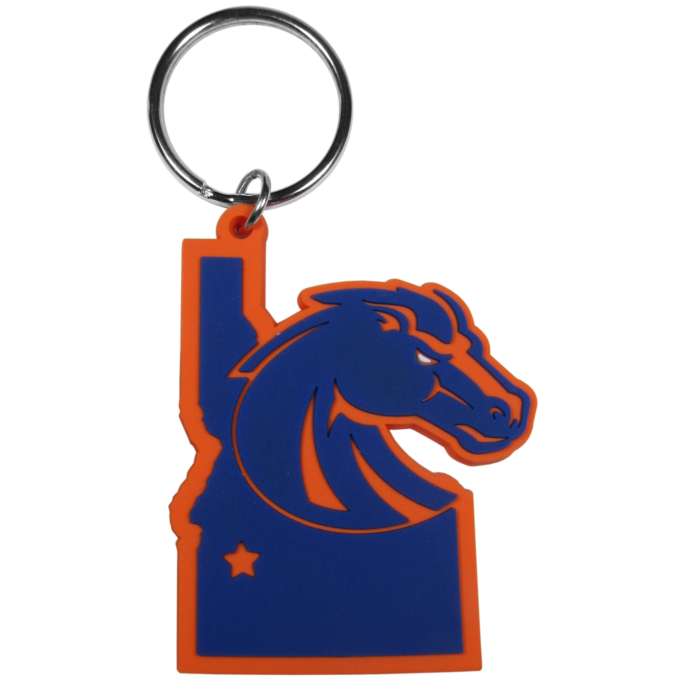 Boise St. Broncos Home State Flexi Key Chain - Our flexible Boise St. Broncos key chains are a fun way to carry your team with you. The pliable rubber material is extremely durable and the layered colors add a great 3D look to the key chain. This is really where quality and a great price meet to create a true fan favorite.