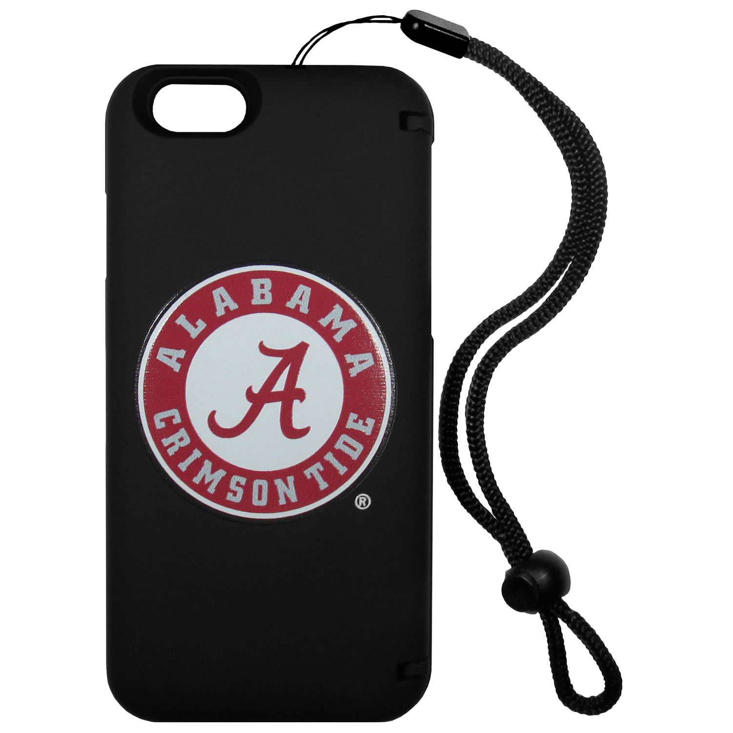 Alabama Crimson Tide iPhone 6 Everything Case - This case really does have everything but the kitchen sink! The hidden compartment lets you keep your cards, money and tickets to the big game safe and secure and has a compact mirror so you can make sure your game face is ready to go. It also comes with a kickstand to make chatting and watching videos a breeze. The wrist strap allows you to travel with ease with your everything case. If that's not enough, it also comes with the Alabama Crimson Tide logo printed in expert detail on the front.