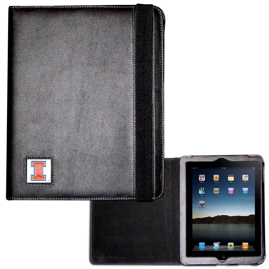 Illinois Fighting Illini iPad 2 Folio Case - The perfect iPad accessory. The black case fits the iPad 2 and iPad 3 and allows you to access all functions easily while the device remains in the case. The case features a cast and enameled Illinois Fighting Illini emblem.