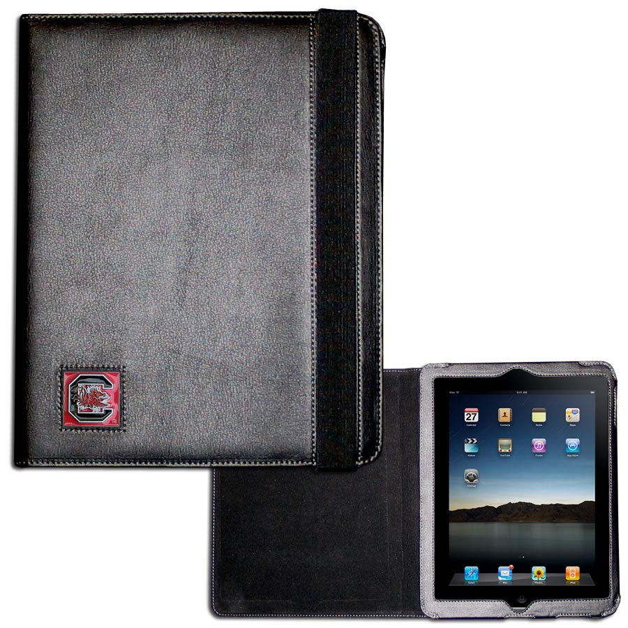 S. Carolina Gamecocks iPad 2 Folio Case - The perfect iPad accessory. The black case fits the iPad 2 and iPad 3 and allows you to access all functions easily while the device remains in the case. The case features a cast and enameled S. Carolina Gamecocks emblem.