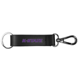 Kansas St. Wildcats Black Strap Key Chain