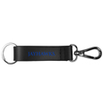 Kansas Jayhawks Black Strap Key Chain
