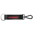 Nebraska Cornhuskers Black Strap Key Chain