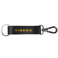 LSU Tigers Black Strap Key Chain