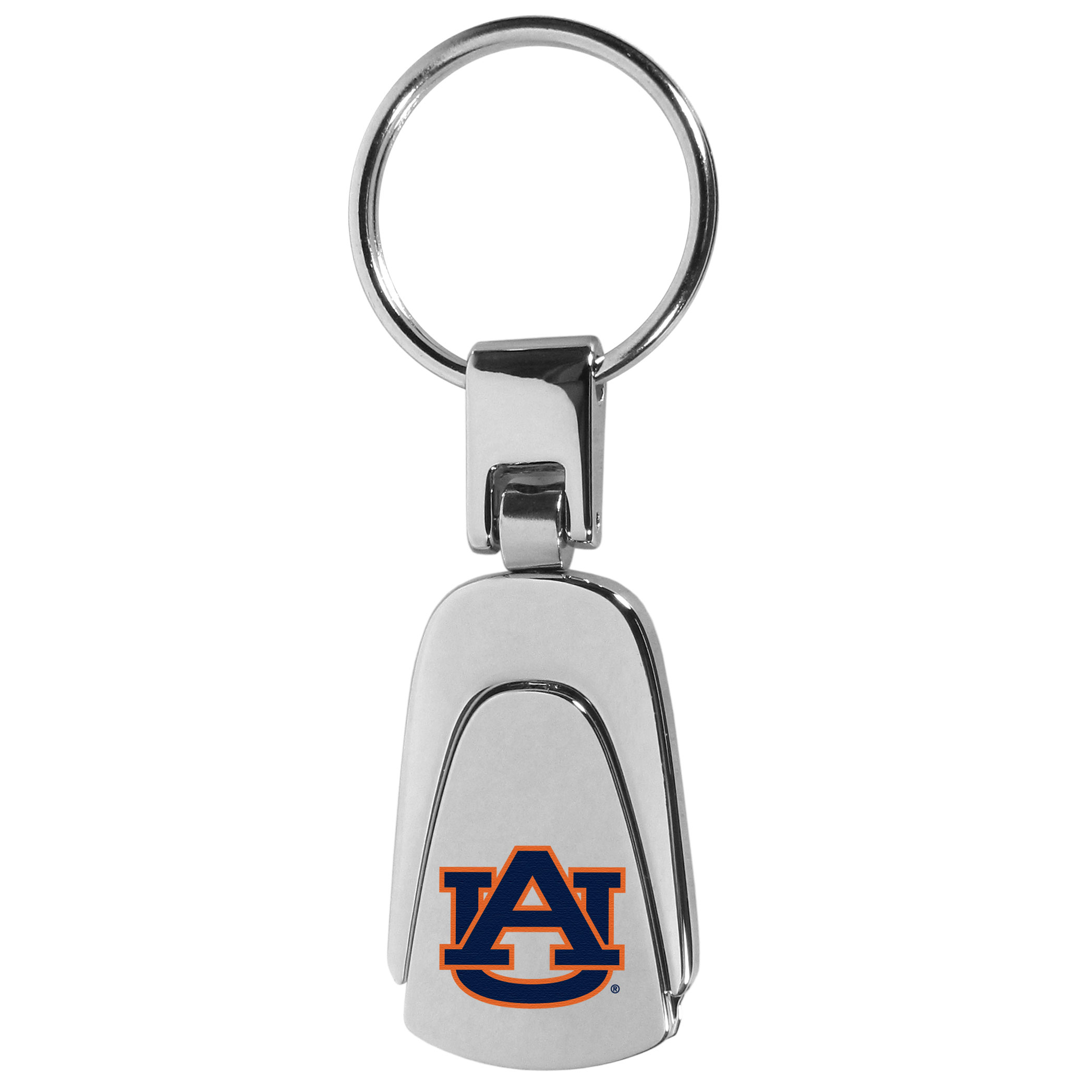 Auburn Tigers Steel Teardop Key Chain - Our Auburn Tigers stainless steel, teardrop key chain is a high-quality key chain with classic style. The key chain a high-polish finish with a full color team logo. A standard split ring for your home and auto keys.