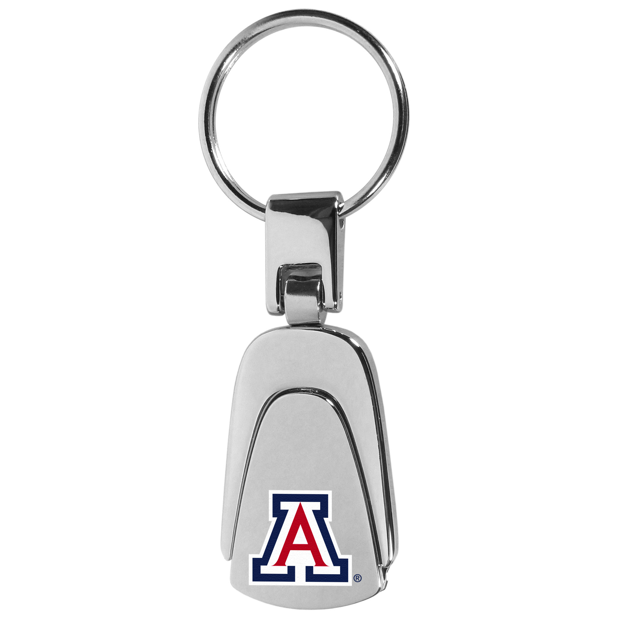 Arizona Wildcats Steel Teardop Key Chain - Our Arizona Wildcats stainless steel, teardrop key chain is a high-quality key chain with classic style. The key chain a high-polish finish with a full color team logo. A standard split ring for your home and auto keys.