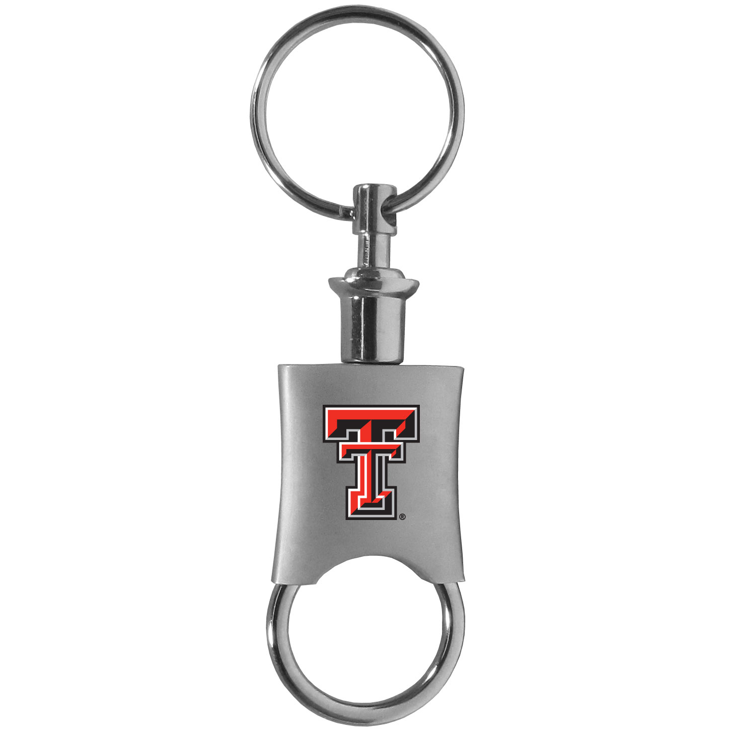 Texas Tech Raiders Valet Key Chain - This high-quality key chain is both fashionable and functional. The key chain features to key rings and one of them detaches easily for valet use so you do not have to risk giving out all of your keys. The beautiful brushed metal finish features the Texas Tech Raiders logo expertly printed on front.