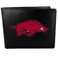 Arkansas Razorbacks Leather Bi-fold Wallet, Large Logo